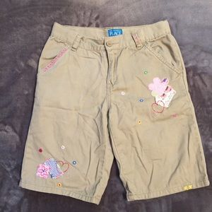 Children's Place Embroidered Shorts - Size 12